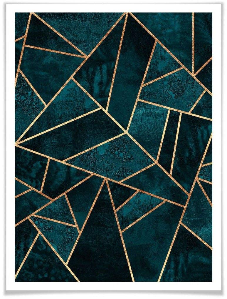 Wall-Art poster Blauw groen edelsteen (1 stuk) bij OTTO online kopen