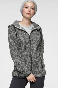 polarino tricot-fleecejack met patroon grijs