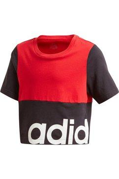 adidas performance t-shirt »youth girl linear celebrate tee« zwart