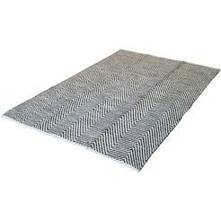calo-deluxe vloerkleed enrear 490 puur katoen, woonkamer grijs