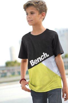 bench. t-shirt geometric zwart