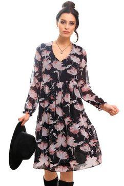 lady gedessineerde jurk jurk zwart