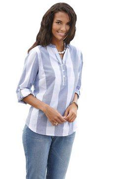 casual looks blouse van puur katoen blauw