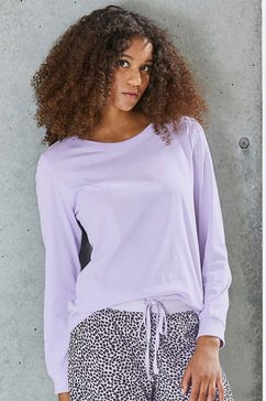 vivance collection shirt met lange mouwen paars