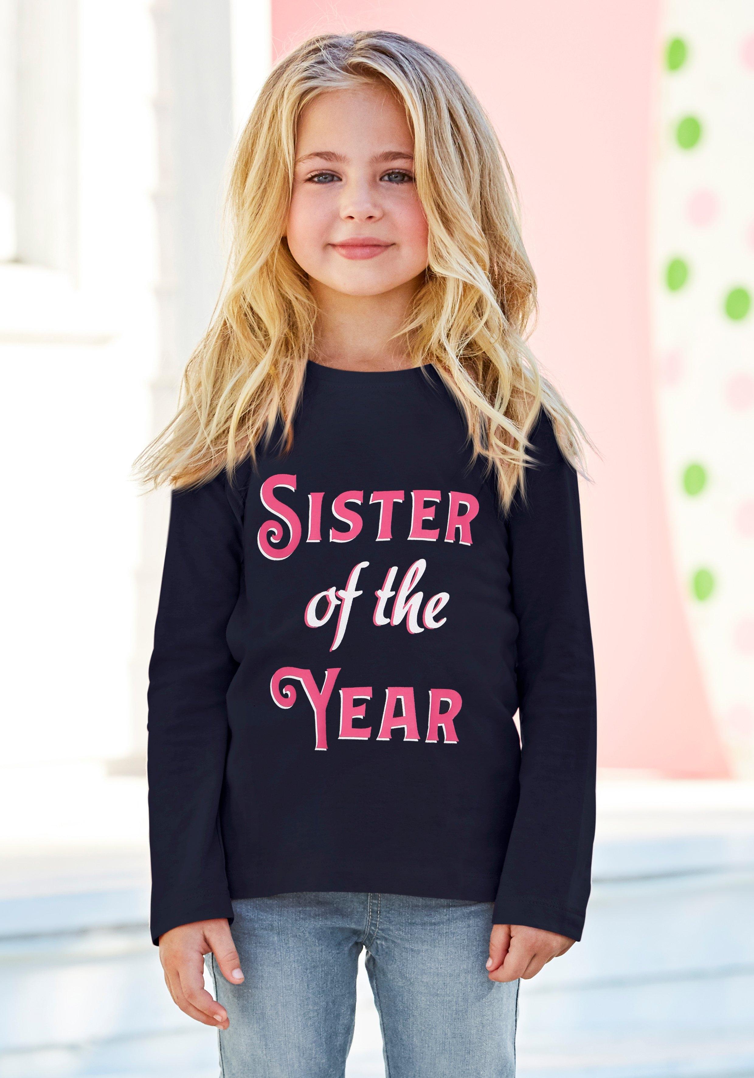 KIDSWORLD Shirt met lange mouwen SISTER OF THE YEAR met druk goedkoop op otto.nl kopen