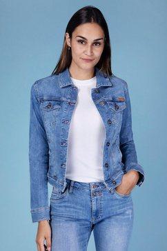 blue fire jeansjack gipsy-bf perfecte pasvorm door stretch-denim blauw