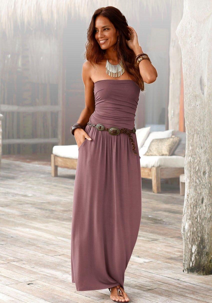 Op zoek naar een Lascana maxi-jurk met smalle top? Koop online bij OTTO