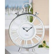 gilde staande klok klok atona hoogte 42 cm, rond, romeinse cijfers, woonkamer (1 stuk) wit