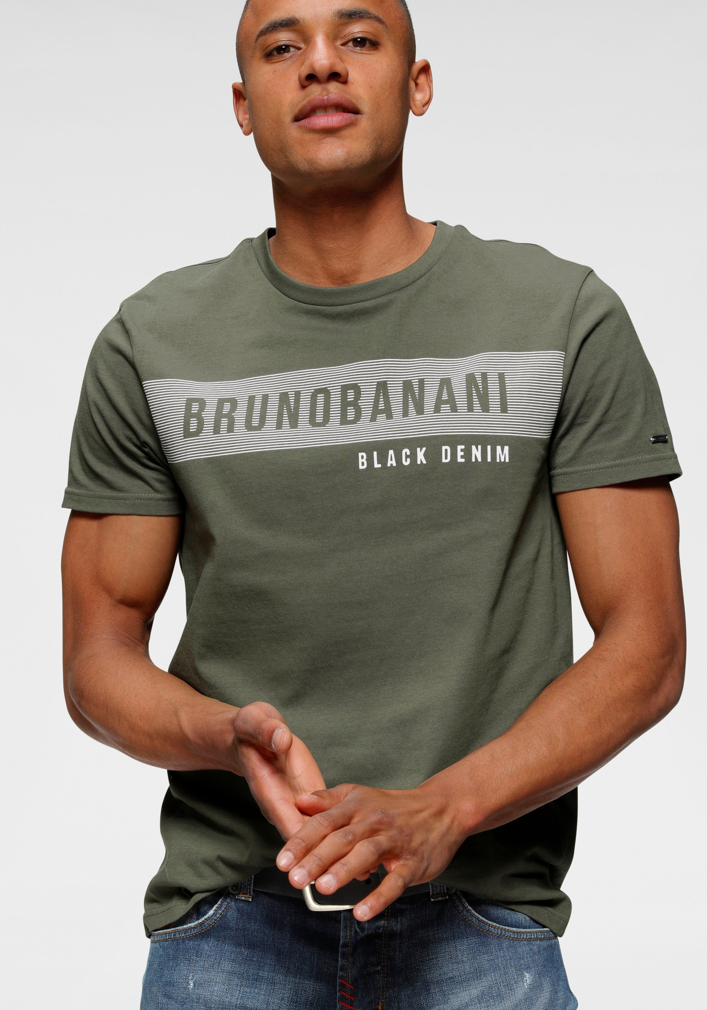Bruno Banani T-shirt met merkprint - verschillende betaalmethodes