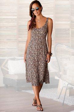 lascana midi-jurk met bloemetjesprint multicolor