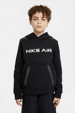 nike hoodie »nike air big kids' (boys') pullover« zwart