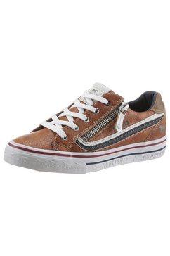 mustang shoes sneakers in een modieuze kleurstelling bruin