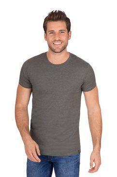 trigema slim-fit t-shirt van deluxe-katoen beige