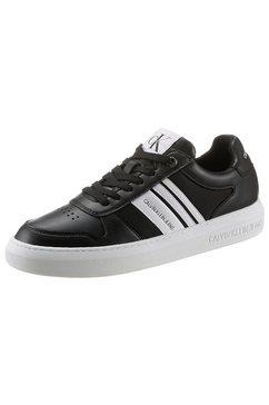 calvin klein sneakers in de materiaalmix zwart