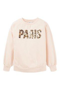 tom tailor sweatshirt »sweatshirt mit print« roze