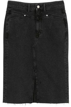 marc o'polo denim jeansrok met gerafelde rand zwart