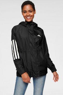 adidas performance windbreaker »bsc 3 stripes wind jacket« zwart