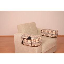 linke licardo armleuningbeschermer malmoe armleuninghoes met vakken van scheerwol (set van 2) wit