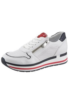 marco tozzi plateausneakers wit