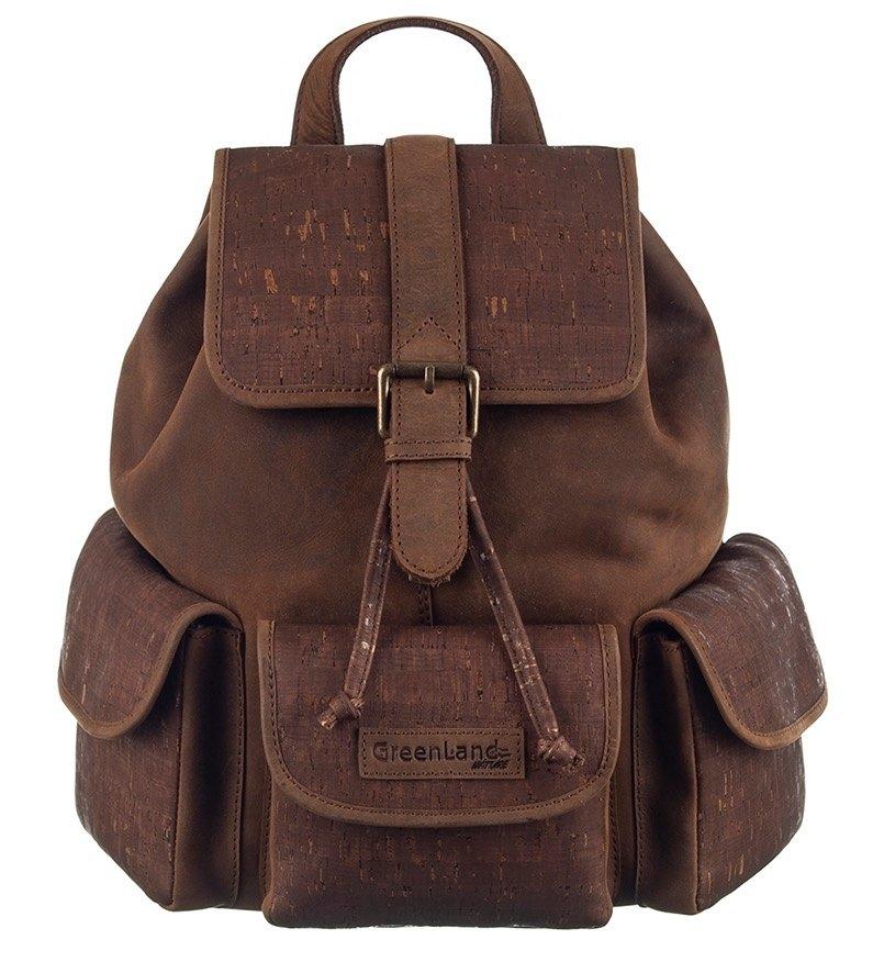 GreenLand Nature Rugzak NATURE leather-cork met rfid-bescherming voordelig en veilig online kopen