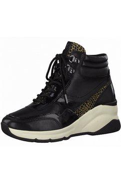 tamaris sneakers met sleehak pure relax zwart