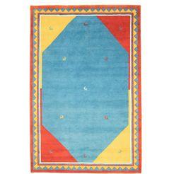 1253498413 wollen kleed »gabbeh desert« blauw