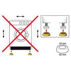 eyckhaus kitchen \ cooking trillingdemper voor wasmachines, voor montage onder de wasmachine, voor een stille, trillingsarme werking. de vier praktische dempers zorgen voor meer stabiliteit van de machine en dempen het geluid. zorgt voor een stabiele stand. gevoelige vloeren worden beschermd (set, 4 stuks) wit