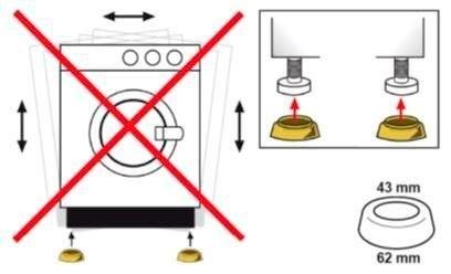 Eyckhaus kitchen \& cooking Trillingdemper voor wasmachines, voor montage onder de wasmachine, voor een stille, trillingsarme werking. de vier praktische dempers zorgen voor meer stabiliteit van de machine en dempen het geluid. zorgt voor een stabiele stand. gevoelige vloeren worden beschermd (set, 4 stuks) in de webshop van OTTO kopen