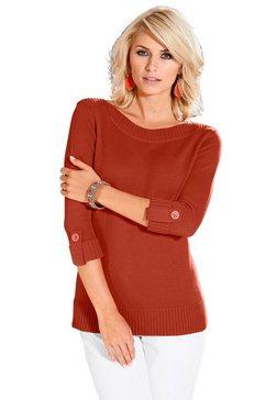 casual looks trui in trendy look oranje