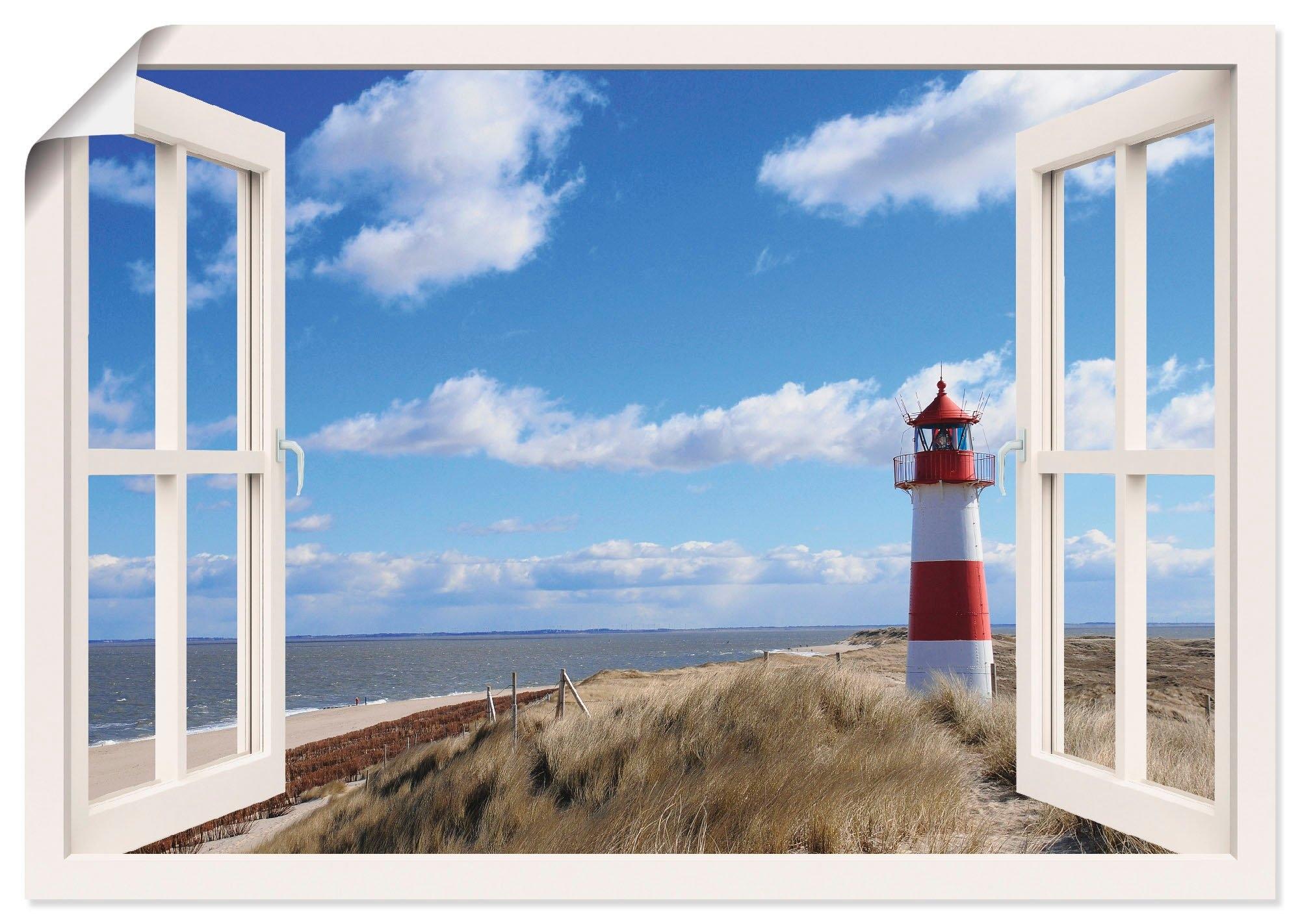 Artland artprint »Fensterblick - Leuchtturm Sylt« voordelig en veilig online kopen