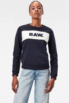 g-star raw sweatshirt xzula panel raw gr sweater met g-star grafiek op borsthoogte blauw