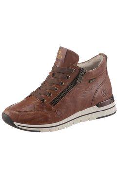remonte sneakers met praktische ritssluiting bruin