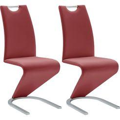 """mca furniture vrijdragende stoel """"amado"""" rood"""