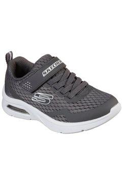 skechers kids sneakers microspec max met klittenbandsluiting grijs