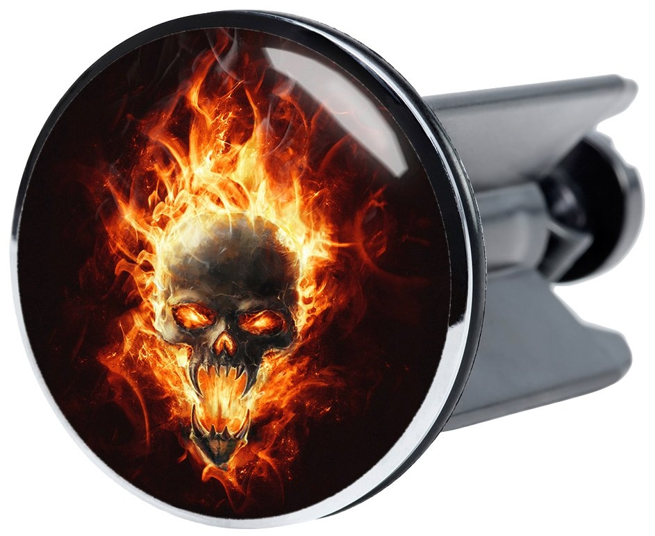 Sanilo Wastafelplug Doodskop in vlammen Ø 4 cm - verschillende betaalmethodes