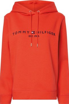 tommy hilfiger hoodie met tommy hilfiger logoborduursel rood