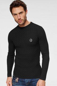 cipo  baxx trui met ronde hals zwart