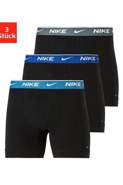 nike lange boxershort logo-weefband (3 stuks) zwart
