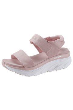 skechers plateausandalen d´lux walker met luxe foam roze