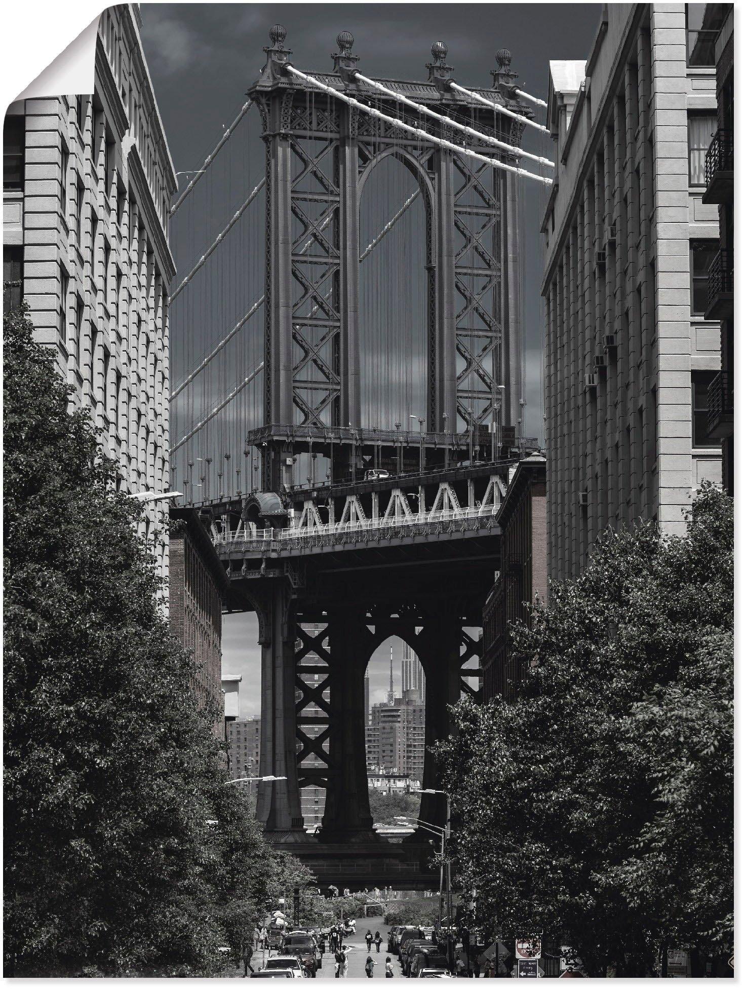 Artland Artprint New York Manhattan Bridge in vele afmetingen & productsoorten - artprint van aluminium / artprint voor buiten, artprint op linnen, poster, muursticker / wandfolie ook geschikt voor de badkamer (1 stuk) bij OTTO online kopen