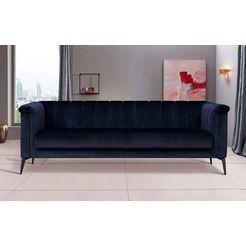 inosign 3-zitsbank lomani in een stijlvol design blauw