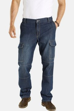 jan vanderstorm cargo jeans elmo met stretchaandeel blauw