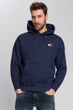 tommy jeans hoodie tjm tommy badge hoodie blauw
