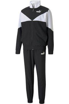 puma trainingspak woven suit (set, 2-delig) zwart
