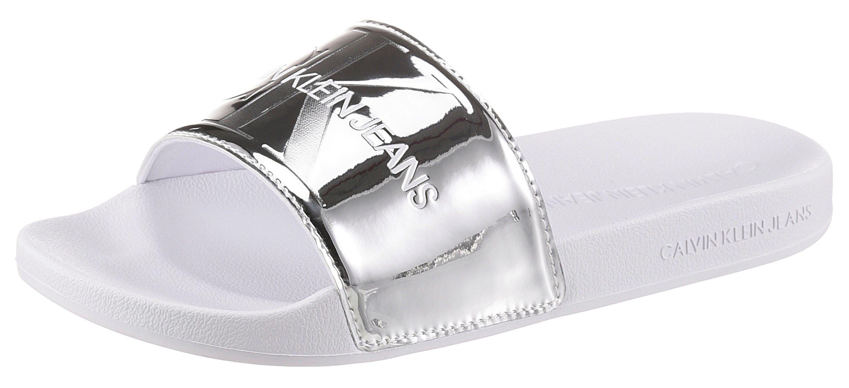 Calvin Klein slippers in spiegel-look bestellen: 30 dagen bedenktijd