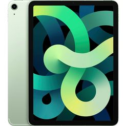 "apple tablet ipad air (2020) wi-fi 256gb, 10,9 "", ipados, inclusief oplader groen"