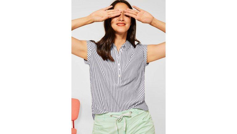 STREET ONE blouse zonder sluiting met korte knoopsluiting