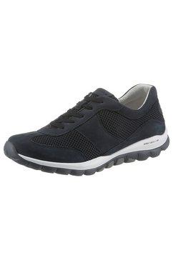 gabor rollingsoft sneakers met sleehak met leren voetbed blauw