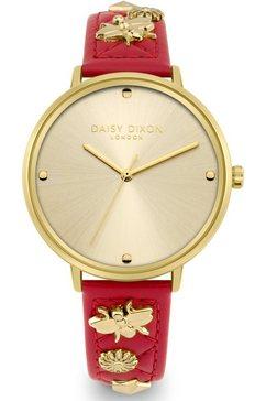 daisy dixon kwartshorloge kendall #28, dd133pg (set, 2-delig, met clutch) rood