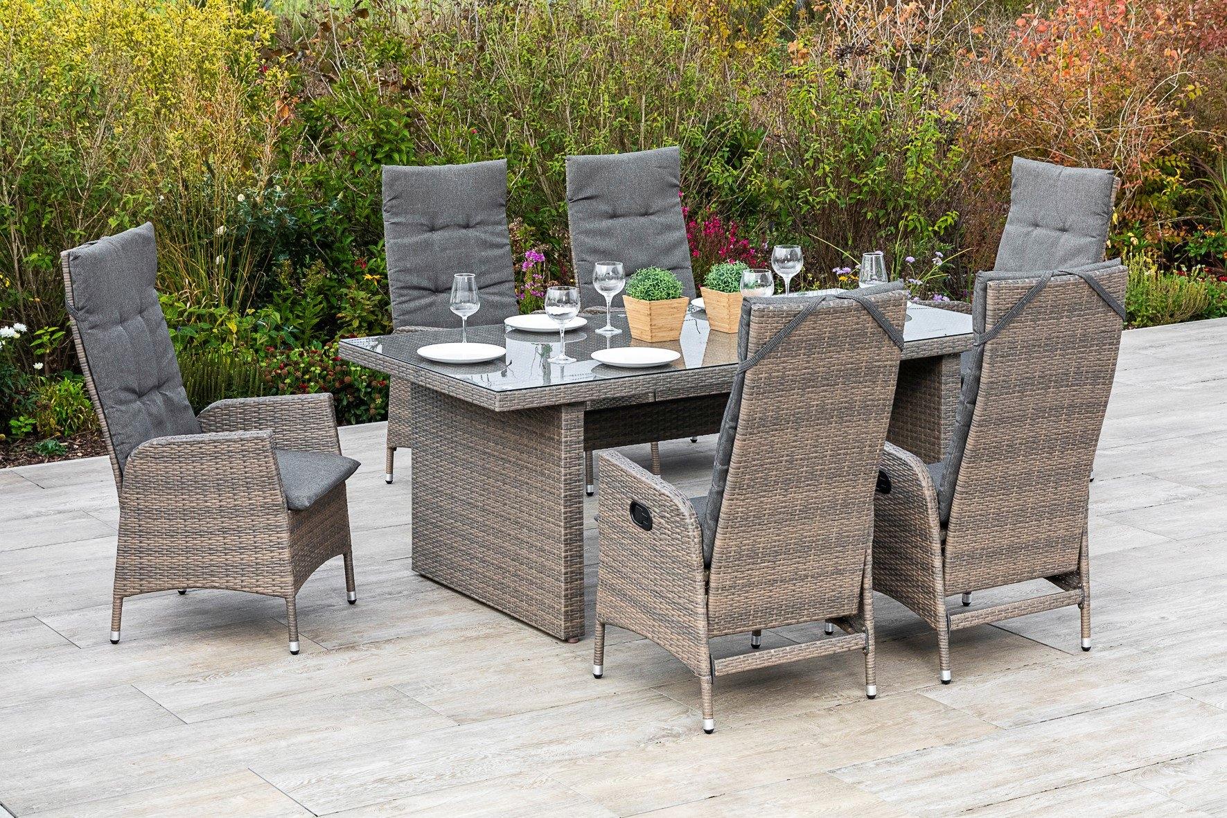 MERXX Tuinmeubelset Molina 6 tuinstoelen met tafel (7 delig) voordelig en veilig online kopen